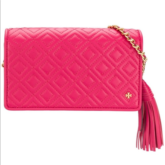 5d997f6df5bf NWT Tory Burch Fleming Wallet with chain😍💖💖💖